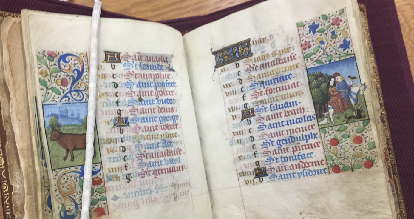 Pages in a book/illuminated manuscript