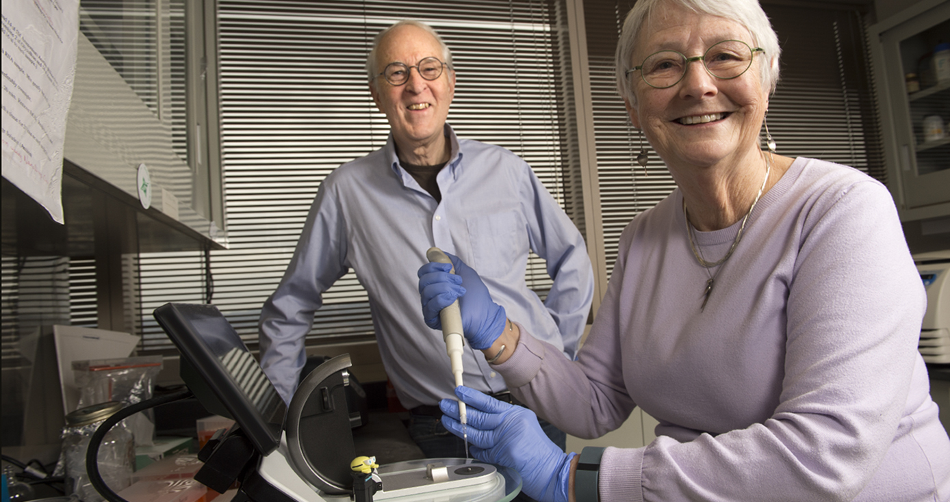 James and Martha Funderburgh in their lab