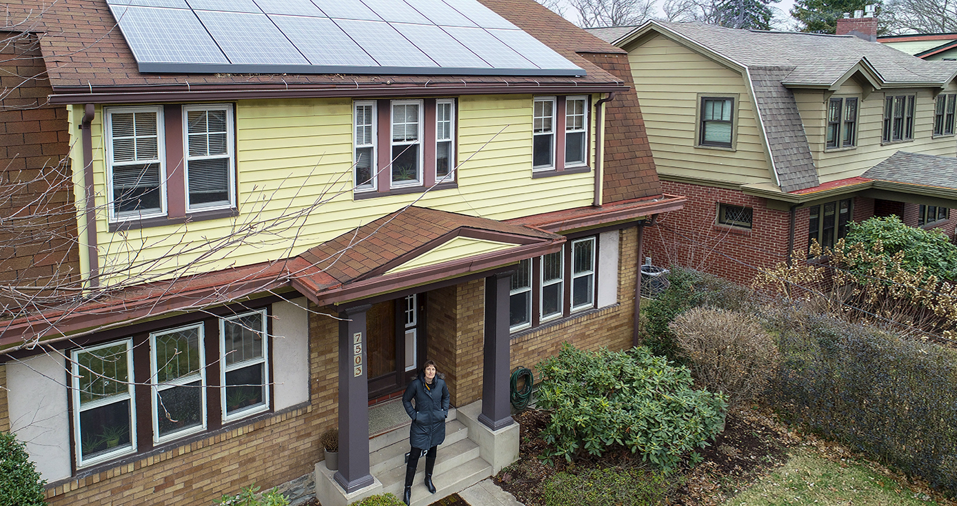 A house with solar panels on its roof