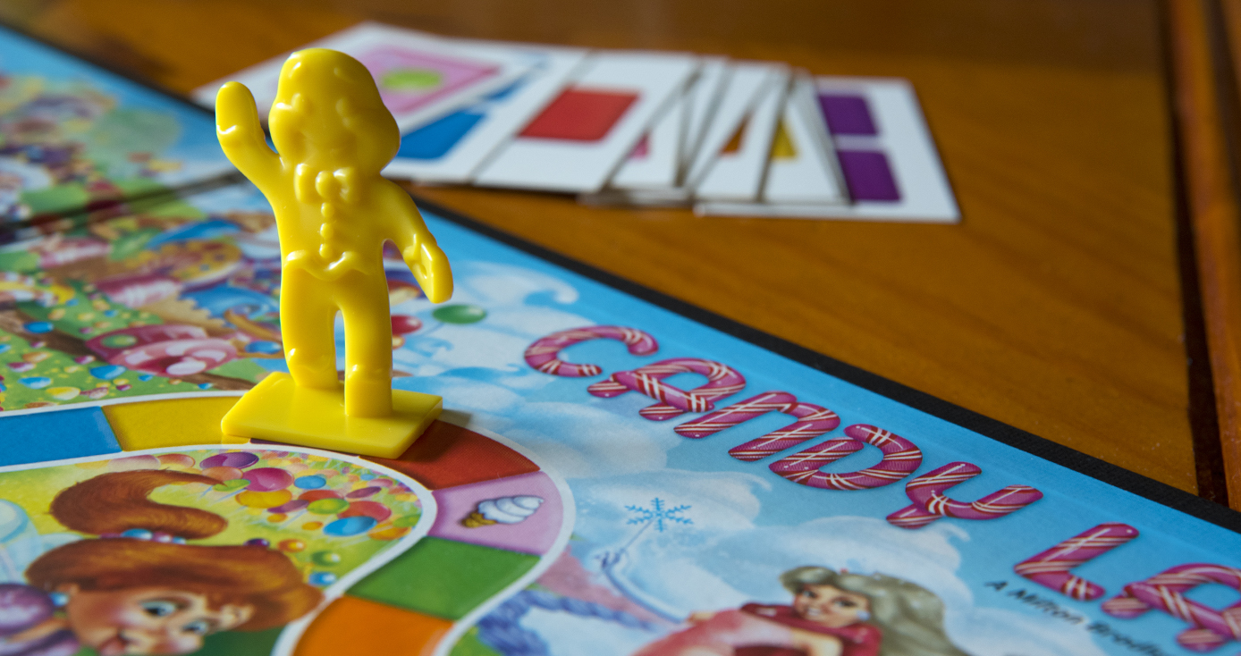 A board game piece in the game Candy Land