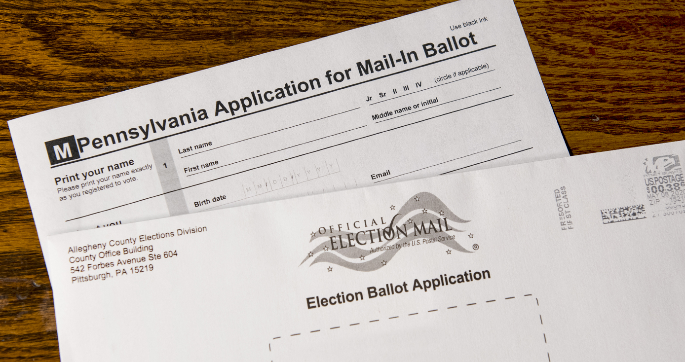 A mail-in ballot for Pennsylvania