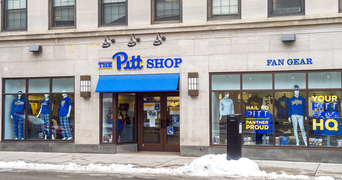 The outside of The Pitt Shop