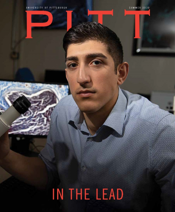A magazine cover for Pitt Magazine's summer 2020 issue