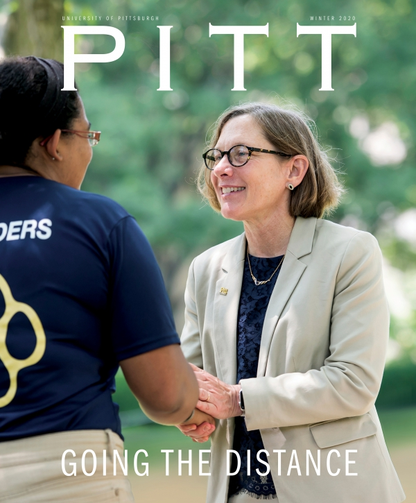 Winter 2020 Pitt Magazine cover