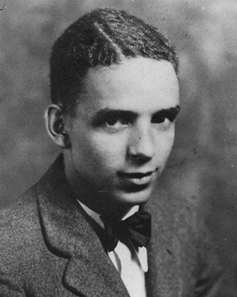 black and white headshot of Joshua Rose c. 1928
