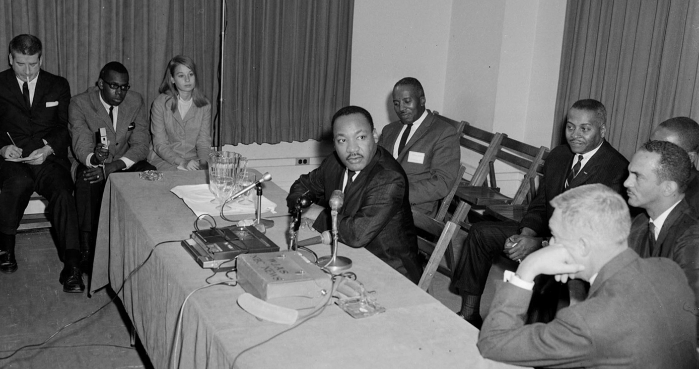 MLK at a long table in WPU