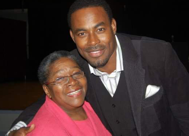 Lillie and actor Lamman Rucker at a National Black Theater Festival.