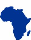 Clipart of Africa in dark blue