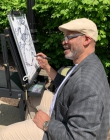 Caricature artist at 2019 picnic