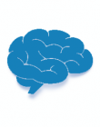 Clipart image of blue brain on white background