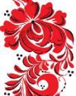Red flower pattern taking from the GOSECA logo
