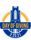 A sign for Pitt's Day of Giving