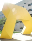 A yellow statue