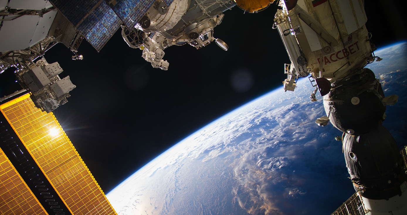 Earth and the ISS