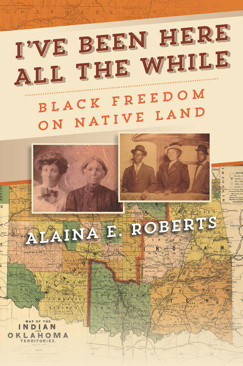 Cover of Roberts' book, which features family photographs and an old map of the Oklahoma area