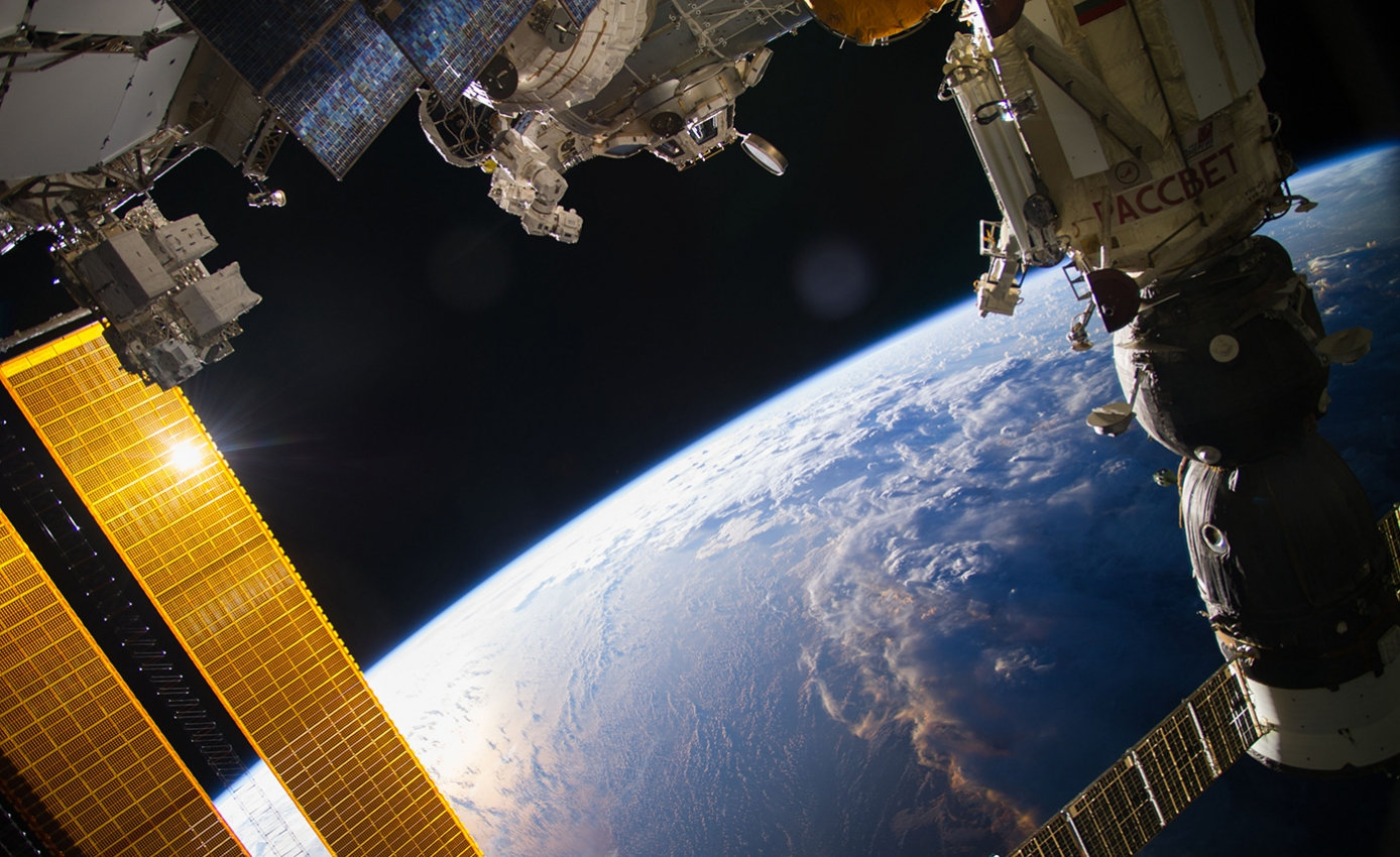 View of Earth and the International Space Station