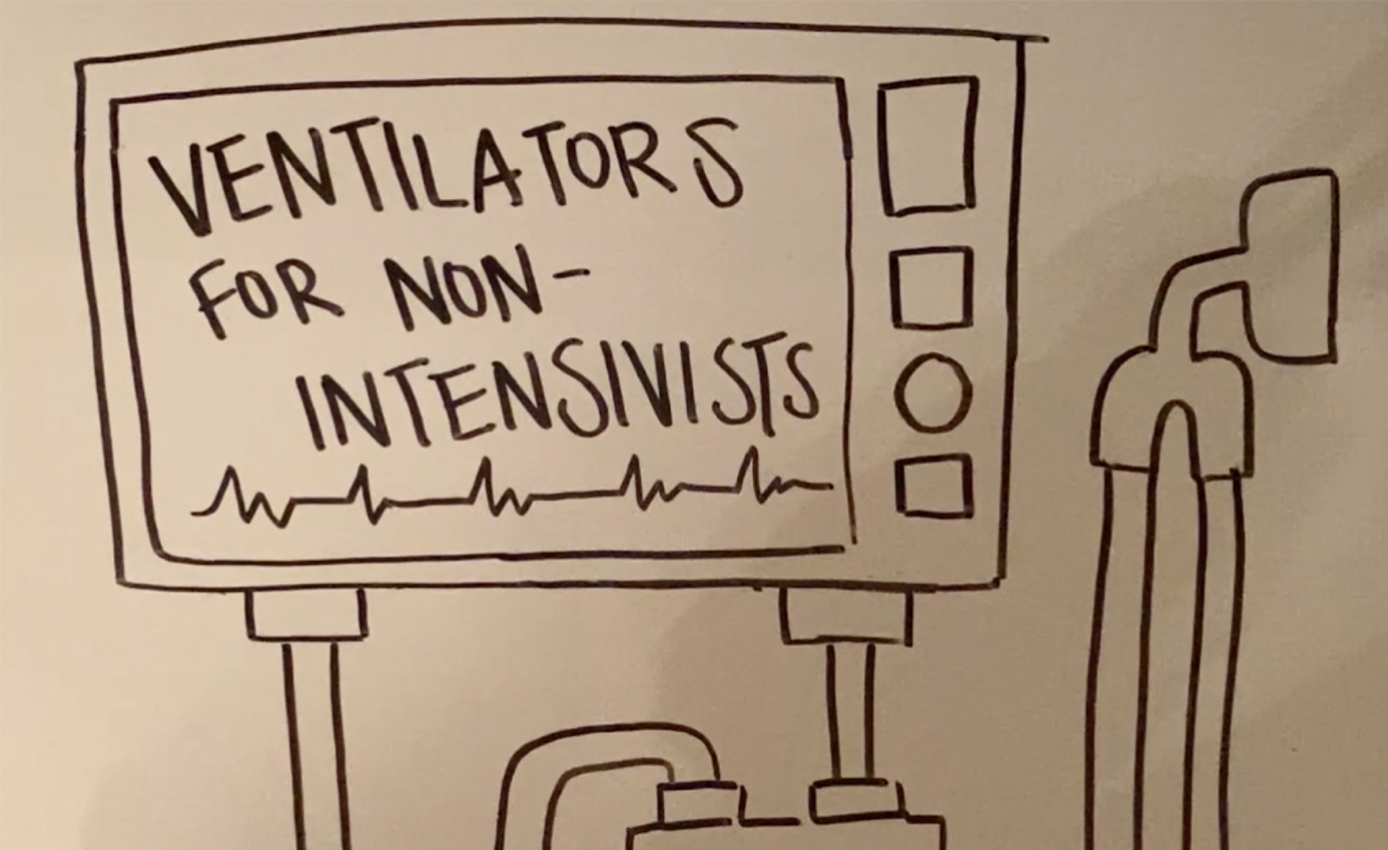 "An illustration for a video guide called ""Ventilators for Non-Intensivists"""