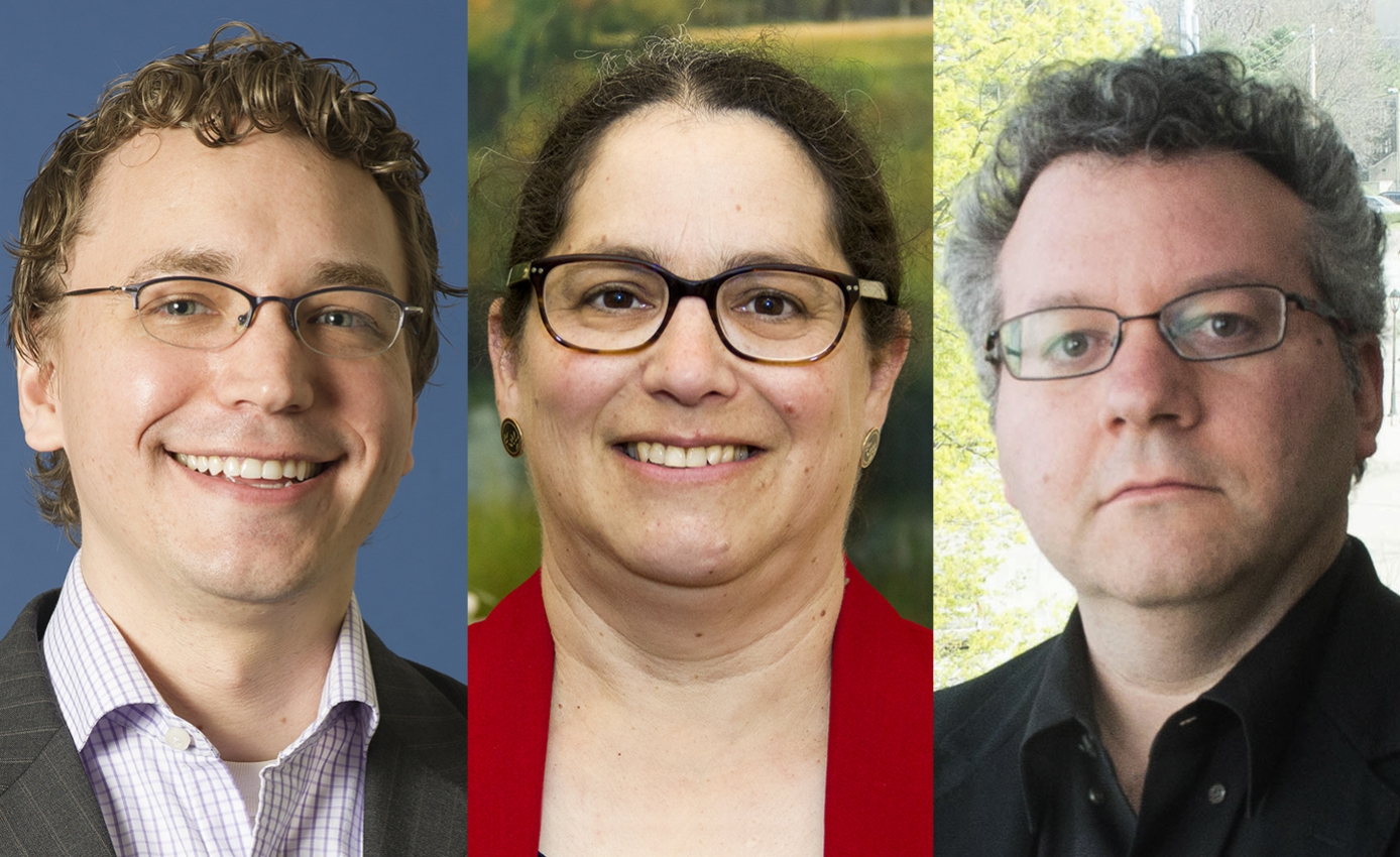 the three researchers spliced together