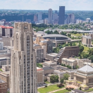 Cathedral of Learning and downtown