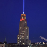 Victory lights on the Cathedral of Learning