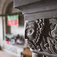 Architectural detail in nationality room
