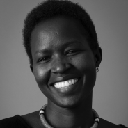 Ntaiya in a black and white photo