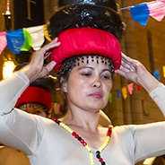 A dancer in for the Philippine Nationality Room Dedication