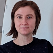 Iordanova in a dark shirt