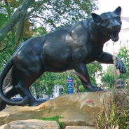A statue of a panther