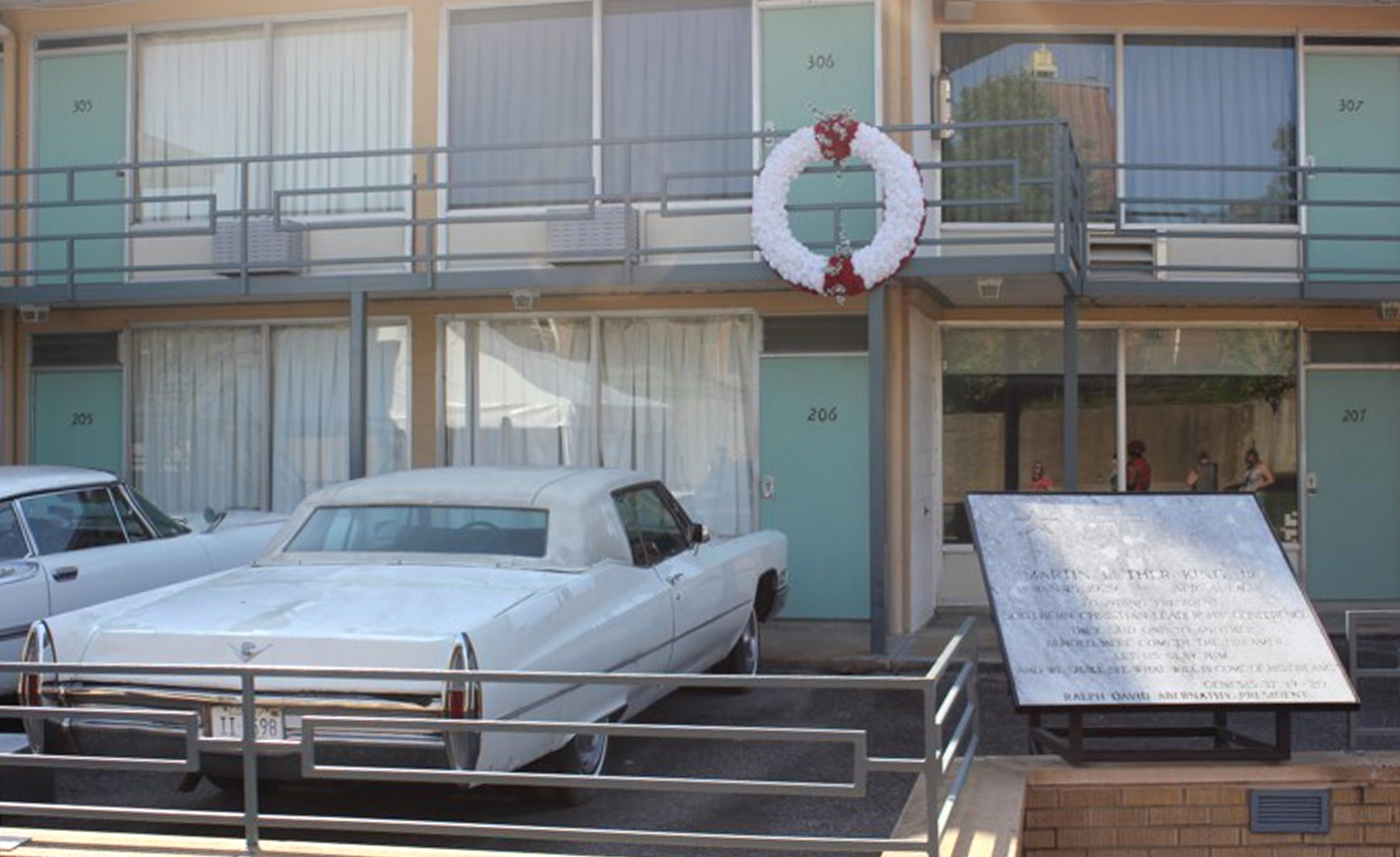 The balcony where Martin Luther King Jr. was shot