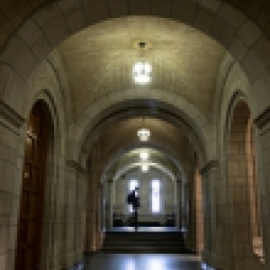 A hall inside of the Cathedral of Learning