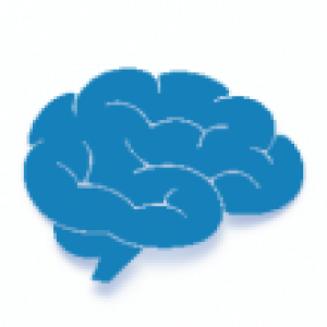 Clip art of a blue brain