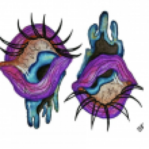 Painting of two eyes