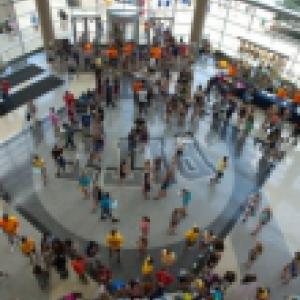 Birdseye view of a past Pitt Student Activity Fair