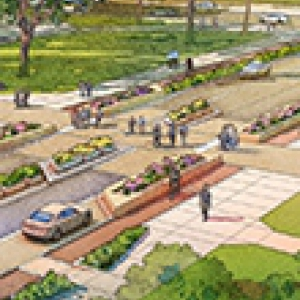 An artist's depiction of the plan for Bigelow Blvd