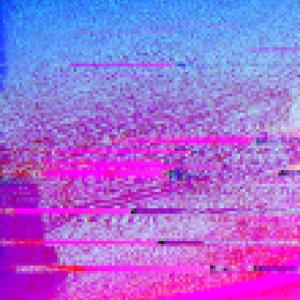 Pink and blue glitch art