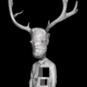 3D model of a man with antlers