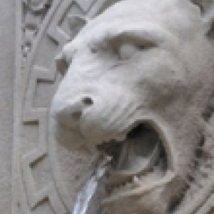 A panther fountain