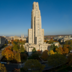 Cathedral of Learning on a sunny blue day