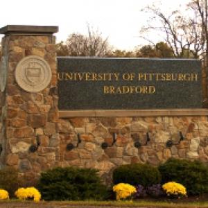 a sign at Pitt-Bradford