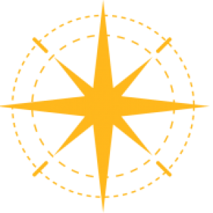 A yellow compass