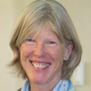 Cynthia Kenyon in a blue scarf