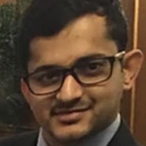 Sayan Ghosh in a black suit