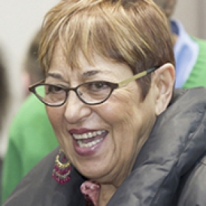 Toi Derricotte in a gray jacket