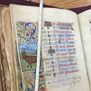 page of an illuminated manuscript book