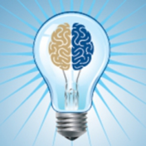 lightbulb with a brain in it