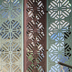 Divider screen with a blue and brown world-art motif in the Global Hub