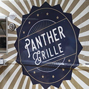 Panther Grille food truck details showing its logo