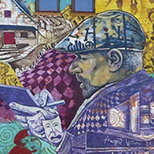 A mural of August Wilson in the Hill District neighborhood of Pittsburgh