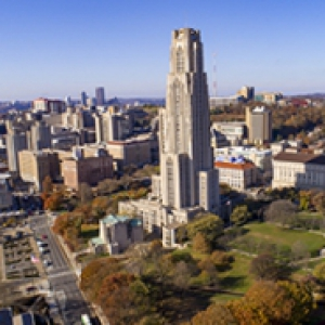The Cathedral of Learning from above